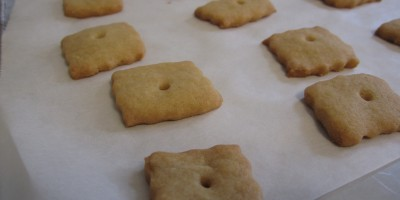 Cheesy Crackers hot from the oven