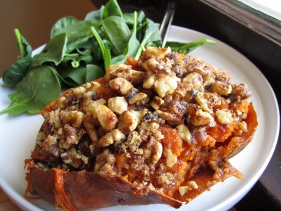 Twice-Baked Sweet Potatoes With Jalapeno And A Streusel Topping ...