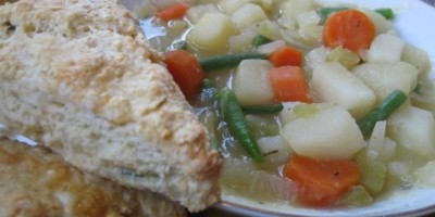 Scones with Vegetable Stew