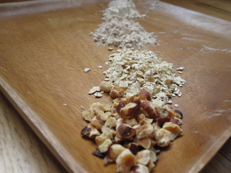 Dry Ingredients for Hazelnut Oat Scones