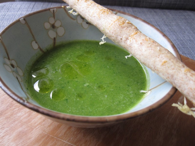 Asparagus Soup with Chili Garlic Oil