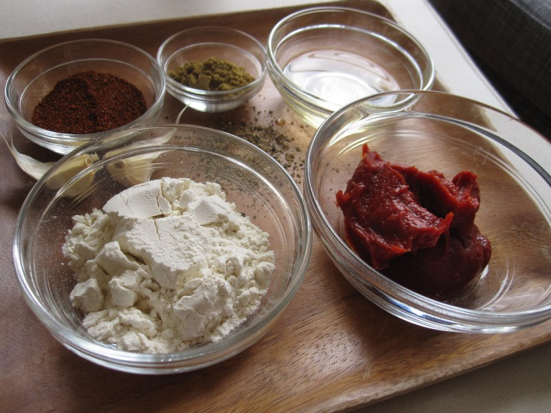 Ingredients for homemade enchilada sauce