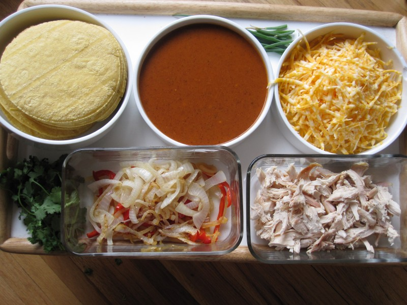 Ingredients for Chicken and Cheese Enchiladas
