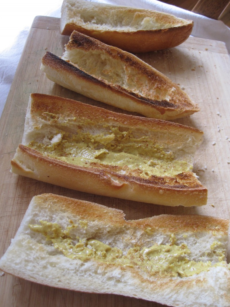 Baguettes with mustard