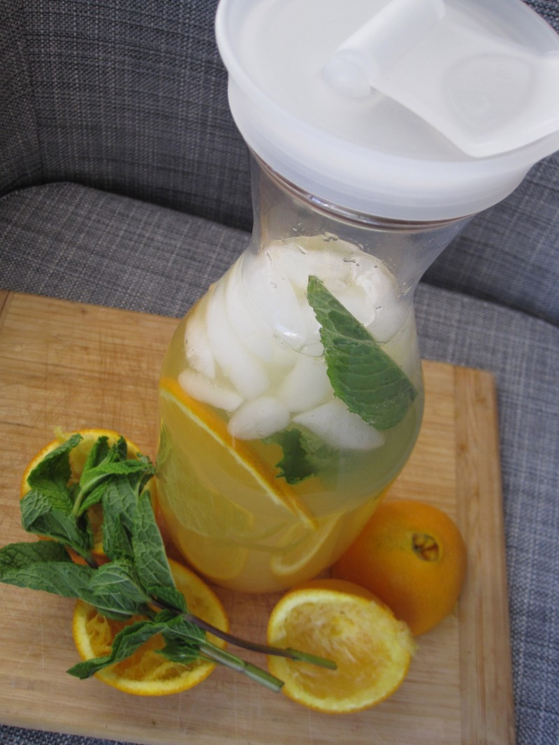 Green Tea with Orange and Mint