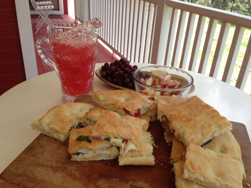 Focaccia with Sparkling Raspberry Lemonade