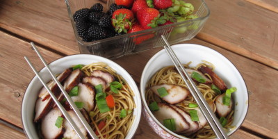 Noodle Bowls and Fresh Fruit