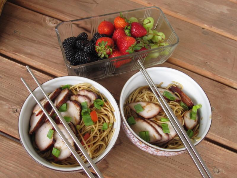 Noodle Bowls and Fresh Fruit