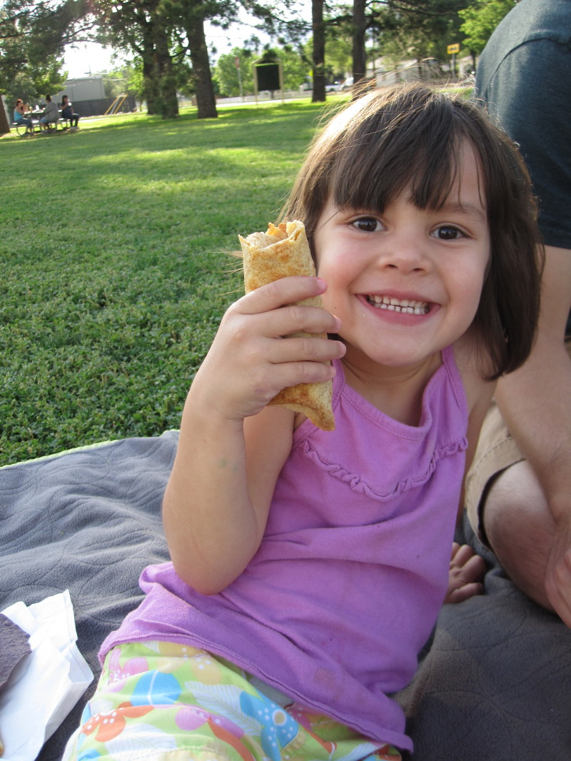 Burritos in the park