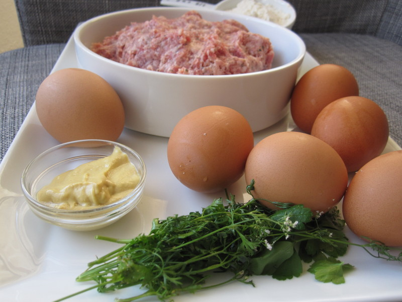 Ingredients for Scotch Eggs