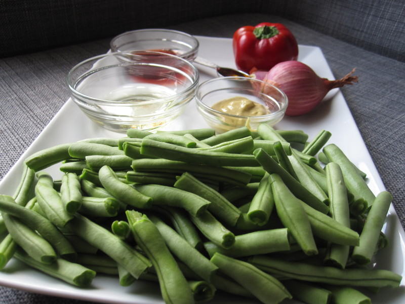 Ingredients for Marinated Green Bean Salad