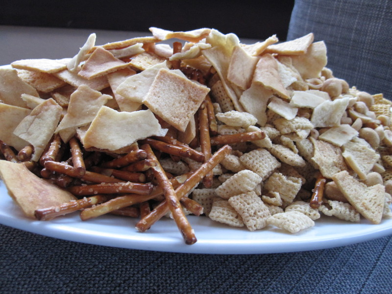 A pile of snacking goodness