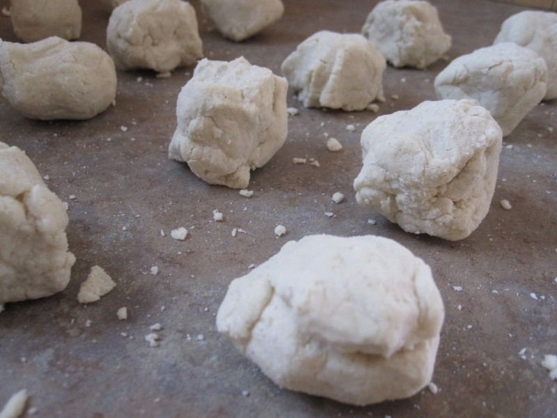 Balls of tortilla dough