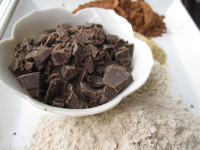 Ingredients for Whole-Grain Double Chocolate Muffins