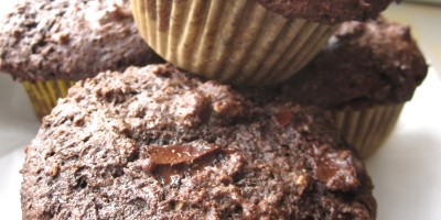 Whole-Grain double chocolate muffins