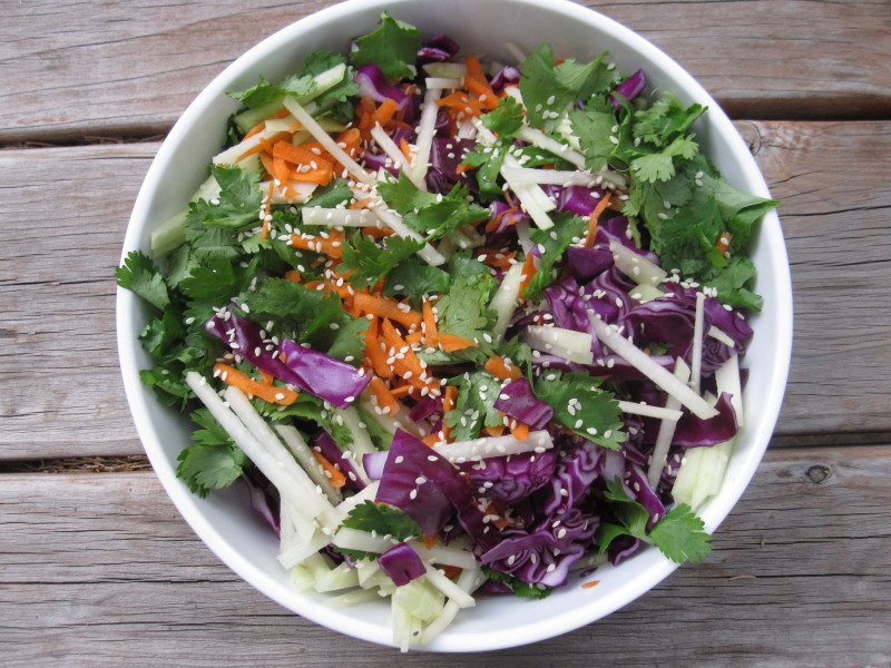 Kohlrabi and Red Cabbage Slaw - Cook It Fresh